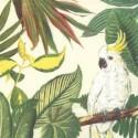 Popierinės servetėlės Ihr FLOWER COCKATOO CREAM, 33x33 cm