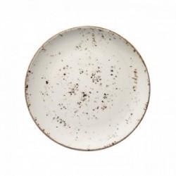 Balta raštuota porcelianinė lėkštė Bonna GRAIN, 17 cm