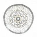 Balta porcelianinė lėkštė su ornamentais Easy Life ORGANIC, 21 cm
