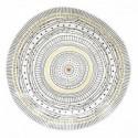 Balta porcelianinė lėkštė su ornamentais Easy Life ORGANIC, 26 cm