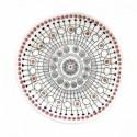Balta porcelianinė lėkštė su ornamentais Easy Life ORGANIC, 16 cm