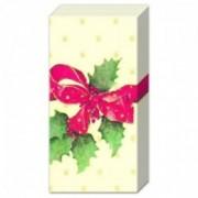 Kalėdinės servetėlės nosinaitės IHR CHRISTMAS BOW, PT