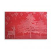 Raudonas Kalėdinis padėkliukas, 30 x 45 cm